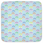 Rainbow Hooded Baby Towel