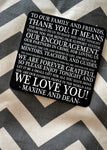 Typographic Thank You Wedding Paper Coasters - Lindsay Ann Artistry