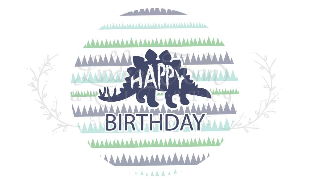 Dinosaur Birthday Party Plate Stickers - Lindsay Ann Artistry