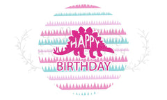 Happy Birthday Dinosaur Birthday Party Stickers Downloadable - Lindsay Ann Artistry