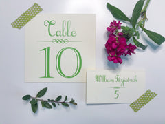 Daisy Table Number Cards with Place Cards (optional) - Lindsay Ann Artistry