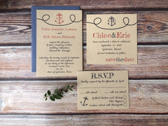 Anchors Aweigh Wedding Invitations - Lindsay Ann Artistry