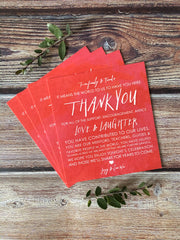 Vibrant Watercolor Thank You Plate Toppers - Lindsay Ann Artistry