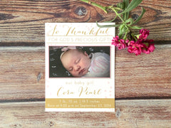 So Thankful Birth Announcement - Lindsay Ann Artistry