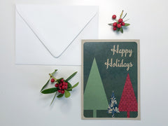 Happy Holidays Greeting Card - Lindsay Ann Artistry