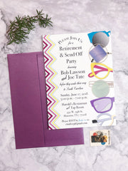 Eyeglasses Themed Retirement Party Invitations - Lindsay Ann Artistry