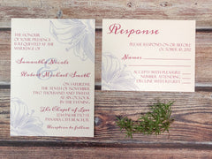 Lily Wedding Invitations - Lindsay Ann Artistry