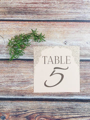 Rosie Table Number/Place Cards - Lindsay Ann Artistry