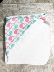 Whale of a Time Hooded Baby Bath Towel - Lindsay Ann Artistry