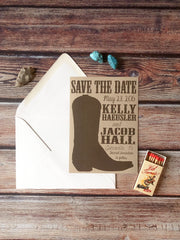 Rodeo Boot Save the Date Cards - Lindsay Ann Artistry