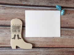 Rodeo Boot Thank You Cards - Lindsay Ann Artistry