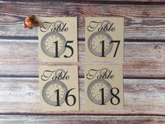 Alice in Wonderland Table Number Cards & Optional Place Cards - Pack of 25 - Lindsay Ann Artistry