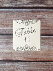 Addison Table Number Cards - Lindsay Ann Artistry