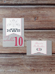 Summer Table Number Cards with Optional Place Cards - Lindsay Ann Artistry
