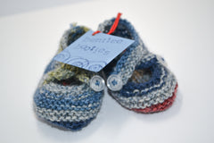 Bentlee Booties - Handmade Knitted Unisex Newborn Shoes, Baby Booties - Lindsay Ann Artistry