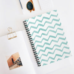 Watercolor Chevrons Spiral Notebook - Ruled Line - Lindsay Ann Artistry