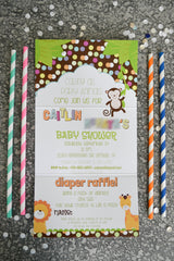 Calling All Party Animals Baby Shower Invitation - Lindsay Ann Artistry