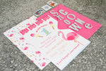 Flamingo Themed Birthday Party Invitations - Pack of 25