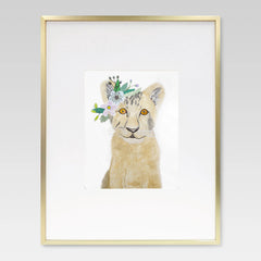 Boho Baby Lion, Tiger, and Bear Cubs Watercolor Print Set - 8 x 10 Downloadable - Lindsay Ann Artistry