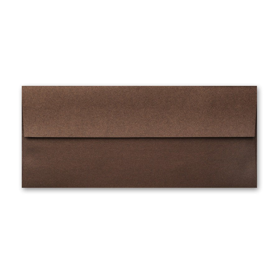 "#10 (4 1/8"" x 9 1/2"") Square Flapped Envelopes - A la carte - Bronze"