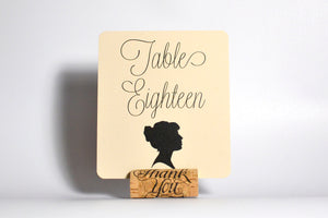 Silhouettes Place Cards & Table Number Cards