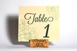 Antique Daisies Table Numbers with Optional Place Cards