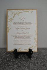 A7 Invitation Backer, Invitation Mat, Back Layer - Antique Gold - Lindsay Ann Artistry