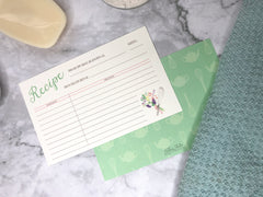 Flowers & Whisk Kitchen Recipe Cards - Lindsay Ann Artistry