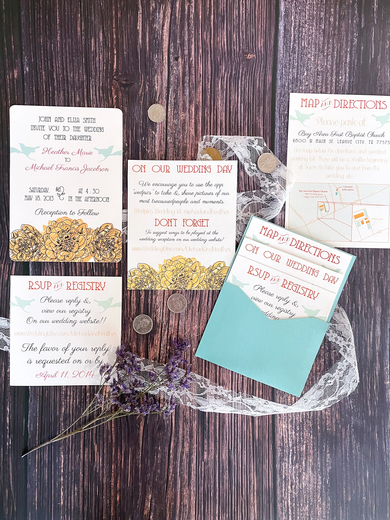Sketched Flowers & Birds Insert Cards - Lindsay Ann Artistry