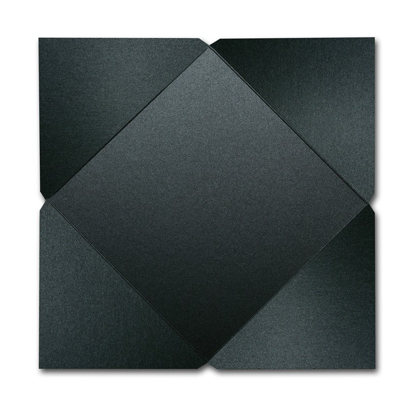 "6.25"" Invitation Square Fold Backer - Onyx"