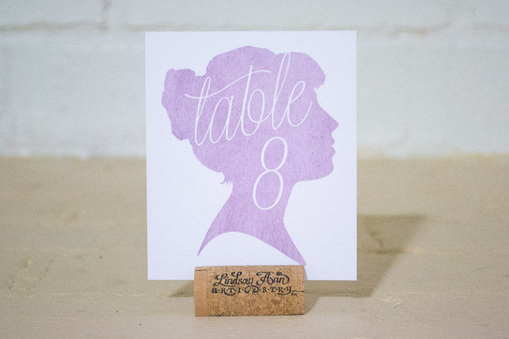Mikaela Table Number Cards with Optional Place Cards - Lindsay Ann Artistry