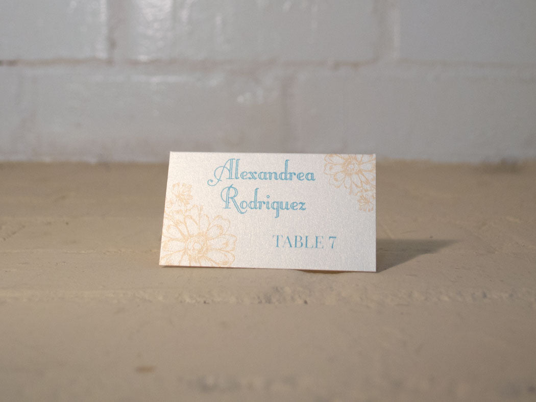 Antique Daisies Table Number Cards with Optional Place Cards
