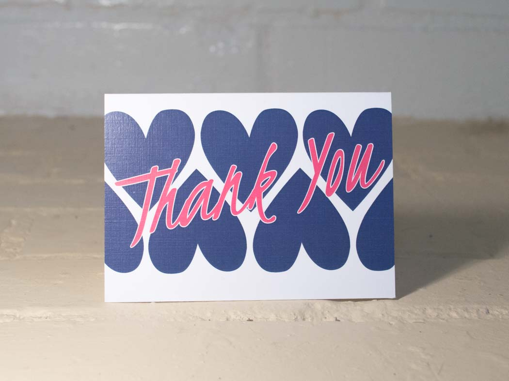 Hearts Thank You Cards