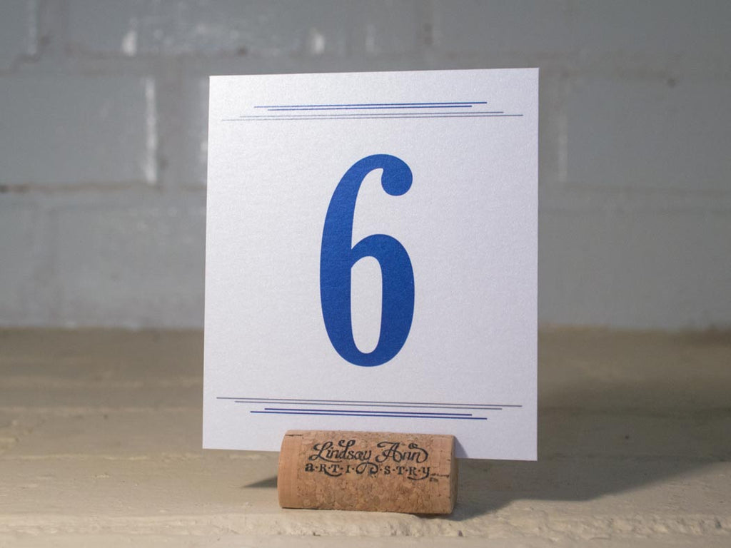 Simplistic Autumn Table Number Cards with Optional Place Cards