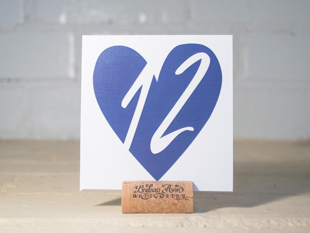 """I Do"" Hearts Table Number Cards with Optional Place Cards"