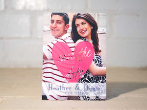 """I Do"" Hearts Save the Dates"