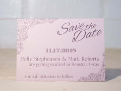 Rosie Save the Date Cards - Lindsay Ann Artistry