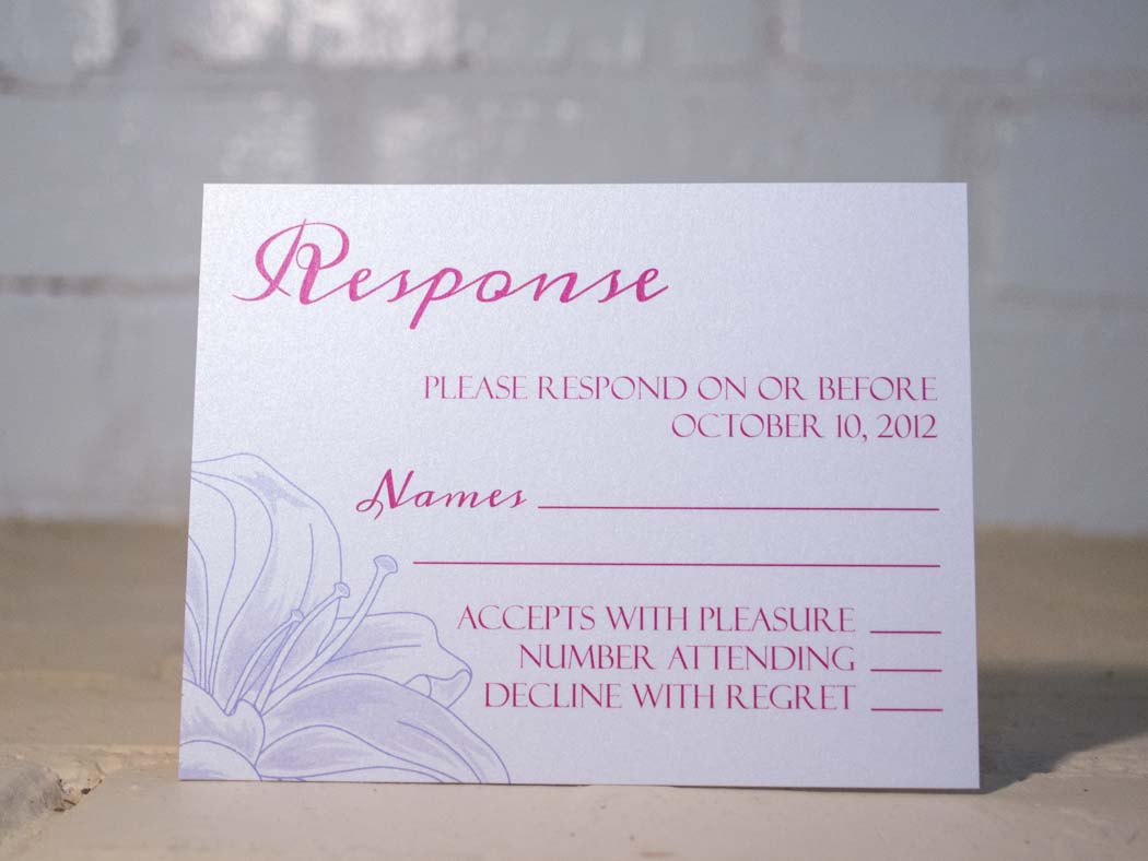 Lily Response Cards - Lindsay Ann Artistry