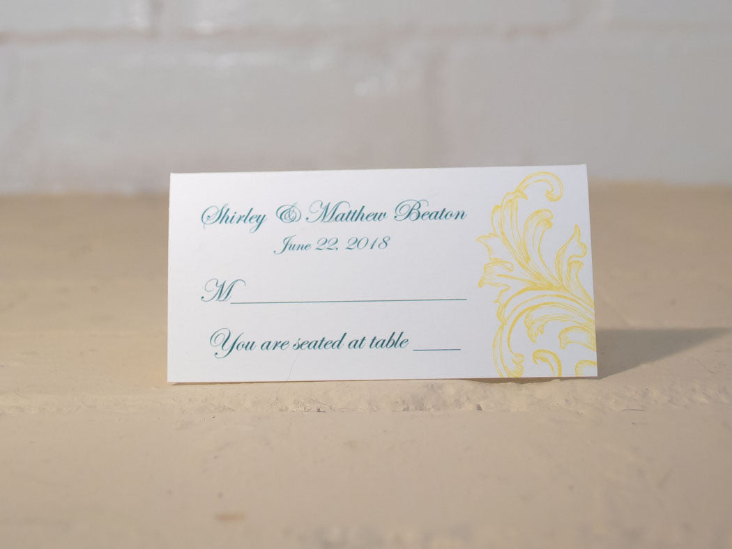 Sandra Table Number Cards with Optional Place Cards - Lindsay Ann Artistry