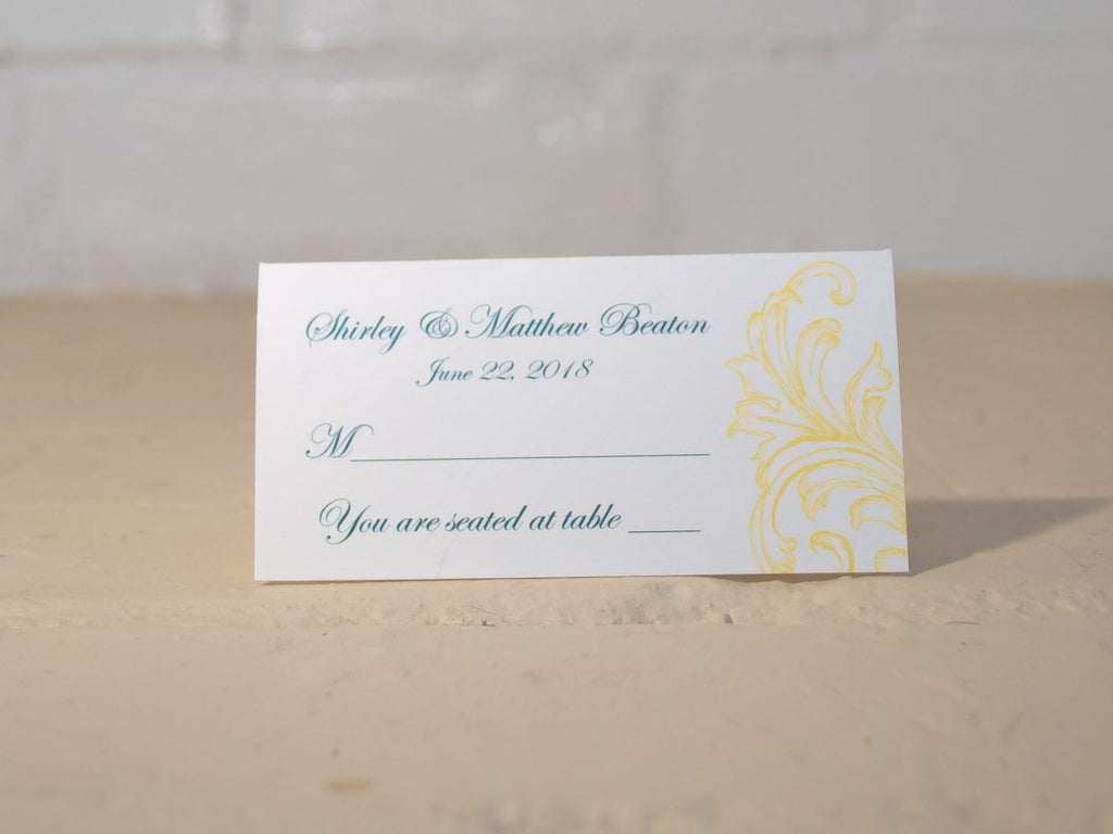 Sandra Table Number Cards with Optional Place Cards