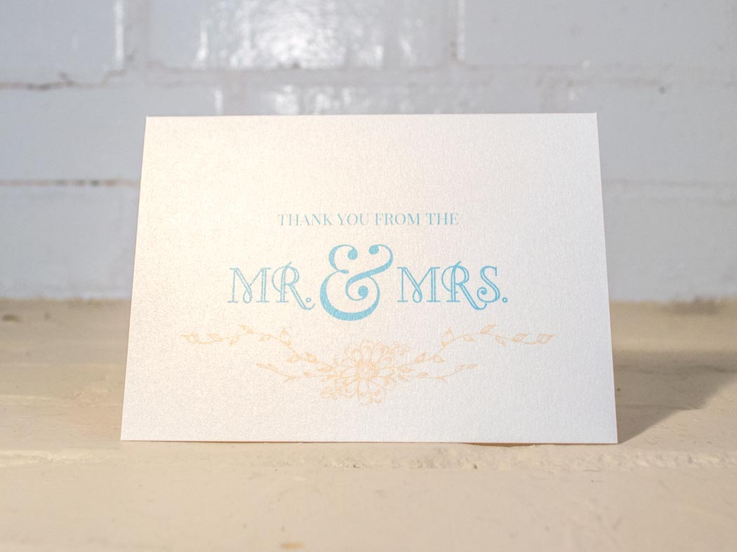 Thank You From the Mr. & Mrs. - Wedding Thank You Card Set