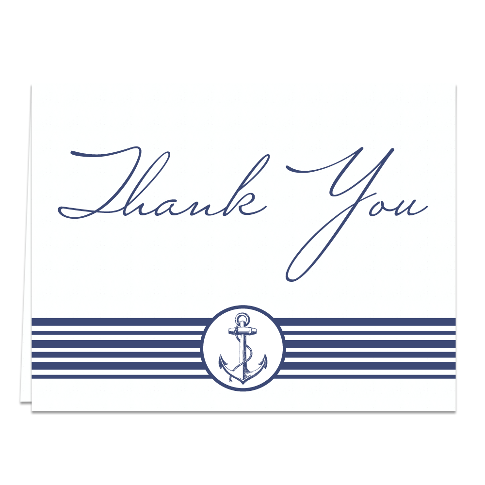 Nautical Stripes Thank You Cards
