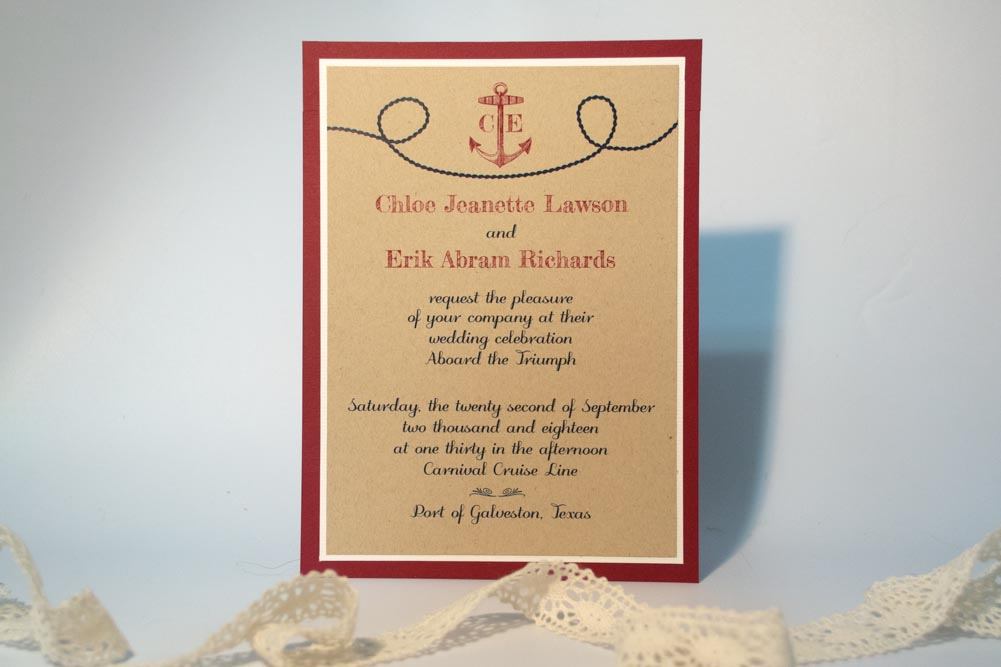 Anchors Aweigh Wedding Invitation Suite