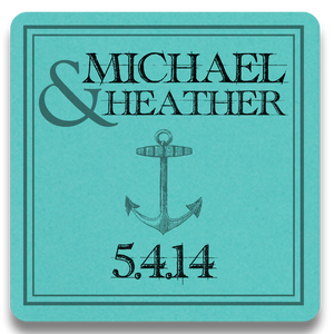 Anchors Aweigh Paper Coasters