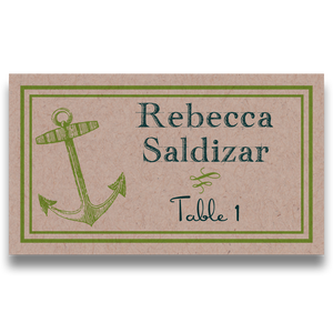 Anchors Aweigh Table Cards and/or Place Cards