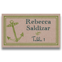 Anchors Aweigh Place Cards - Lindsay Ann Artistry - Beach Reception Table Numbers & Place Cards