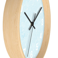 Crashing Sea Waves Wall Clock, Nautical Themed Clock, Beach or Ocean Themed Clock - Lindsay Ann Artistry