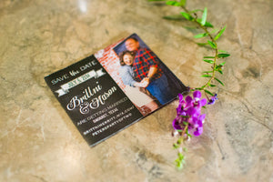 Chalkboard Photo Save the Date Magnets - Lindsay Ann Artistry