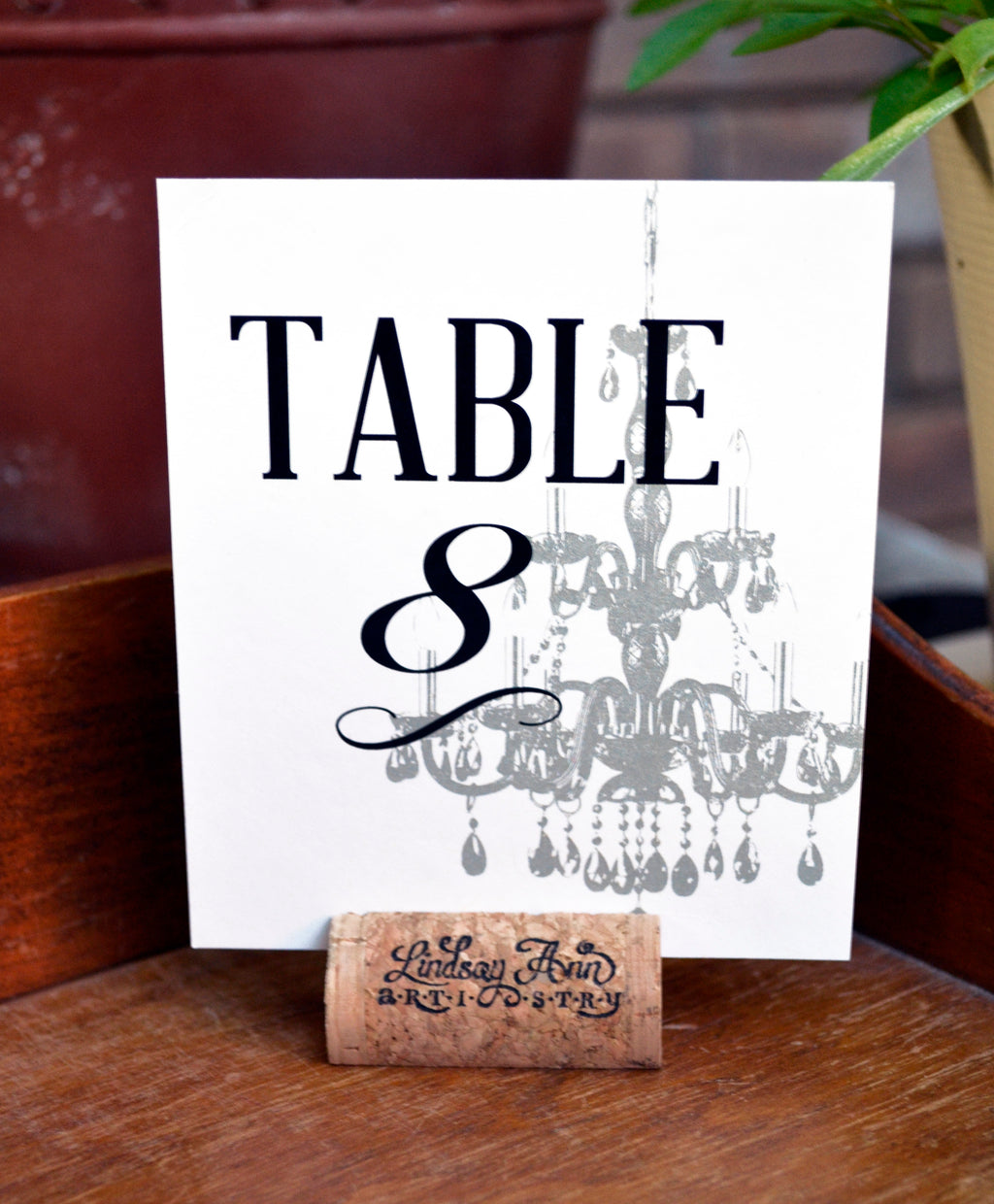 Chandelier Table Number Cards and Optional Place Cards