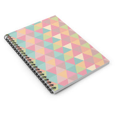 Popping Geometric Triangles Spiral Notebook - Ruled Line - Lindsay Ann Artistry